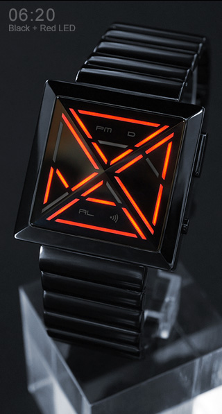 Kisai X Red LED watch