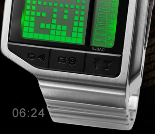 Intoxicated watch green led