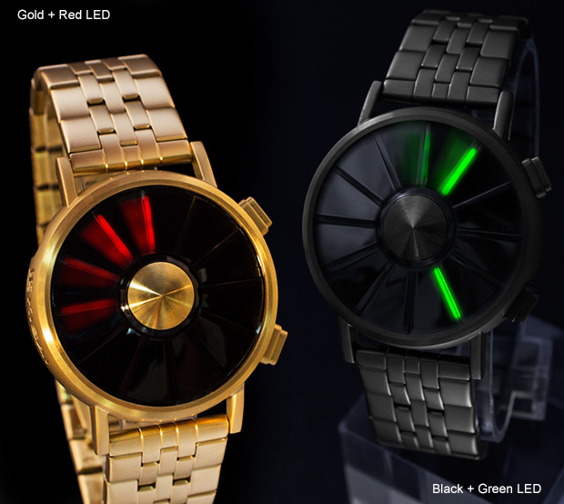 Gold or Black LED watches