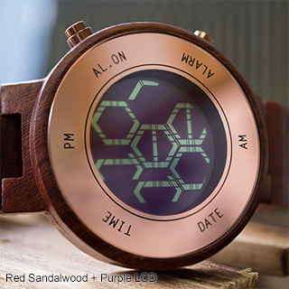 Kisai Zone Wood LCD watch