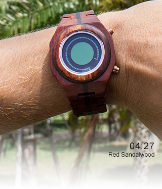Maru wood watch wrist photo