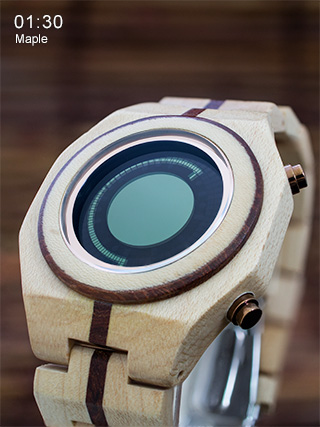 Maple wood watch Maru