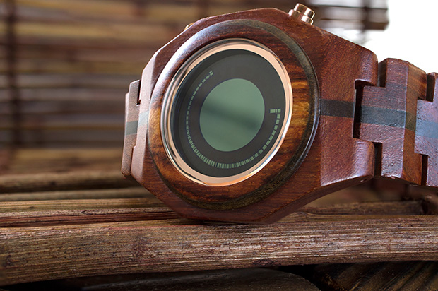 Wooden watch Maru