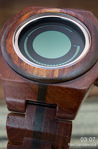 Red Sandalwood LCD watch