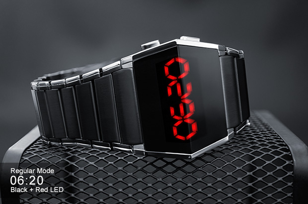 xTAL watch with red LED