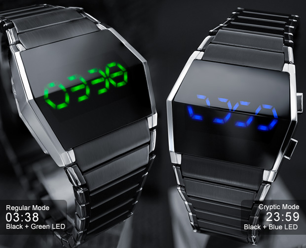 Blue or Green LED watches