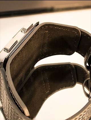 Inside leather strap