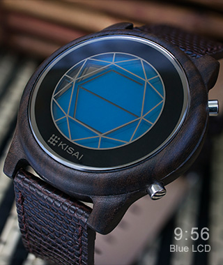 LCD watch blue
