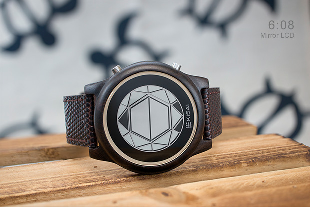 Polygon Mirror LCD watch