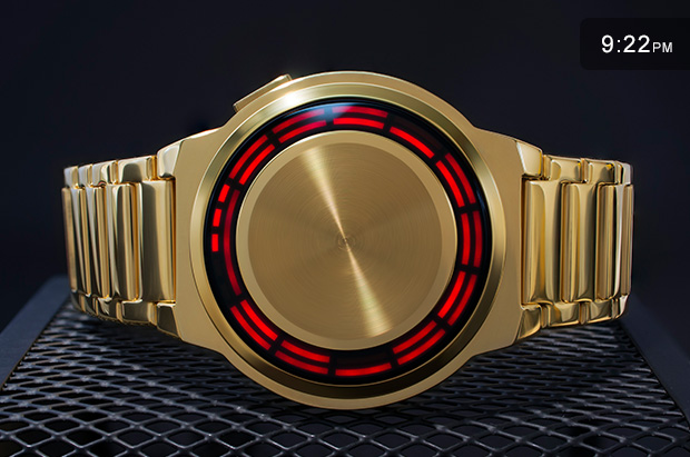 Kisai RPM gold watch