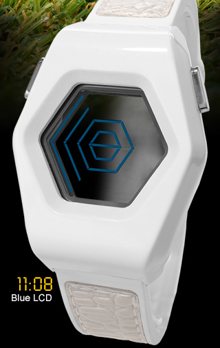 Kisai Spider Blue LCD watch