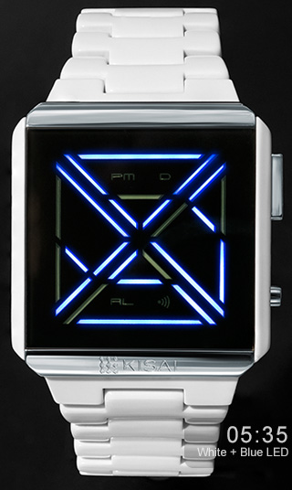 Kisai X Acetate blue LED watch