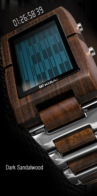Kisai Upload Sandal Wood LCD watch