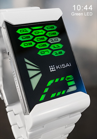 Green LED watch