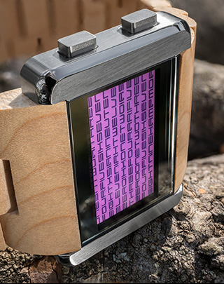 Purple LCD watch