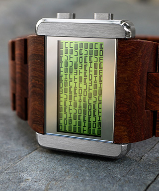 Green LCD watch