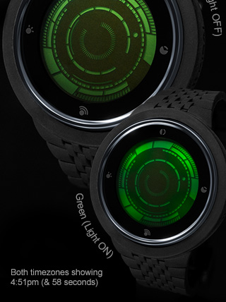 Green LCD & vlack Silicone watch Rogue Touch