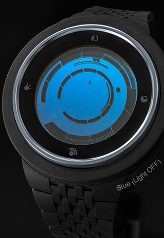Rogue Touch black and blue wristwatch