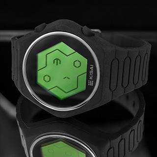 Green LCD Quasar Silicone WATCH