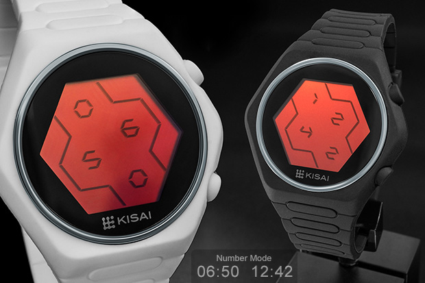 Red LCD watch, Quasar