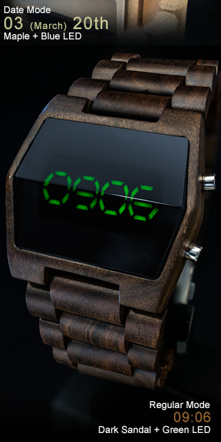 Xtal Dark Sandalwood Green LED