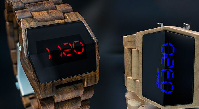 Xtal Wood LED watch