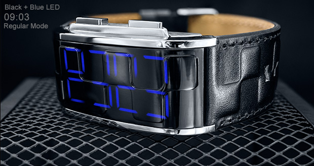 Blue LED Kisai Sequence watch