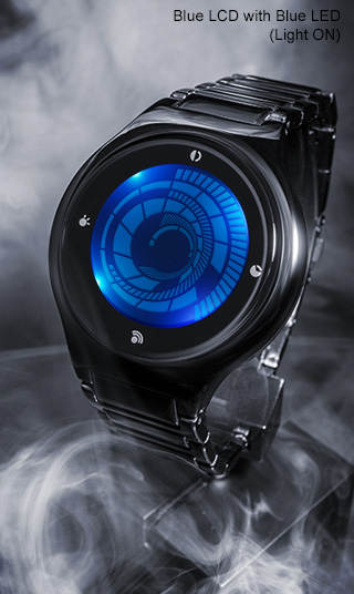 Touch screen lcd watch design dual time date alarm and back light kisai vortex for Vortix watches