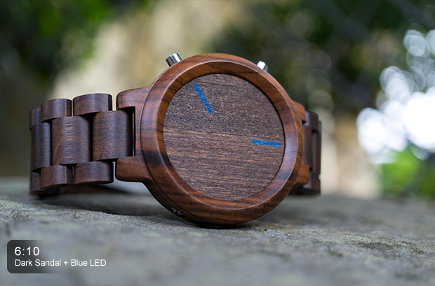 Wooden tech - TokyoFlash LED Blade Wood Link smartwatch