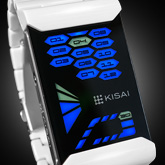 Console Acetate White Led Watches