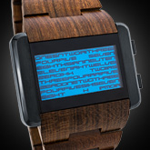 Kaidoku Wood Lcd Watches