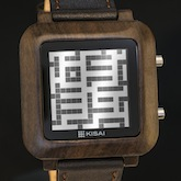Maze Wood Lcd Watches