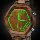 Night Vision Wood Led Watc