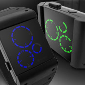 Satellite Black Led Watches
