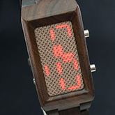 Sequence Wood Link Led Watches