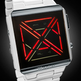 X Acetate White Led Watches