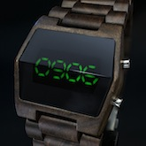 Xtal Wood Led Watches