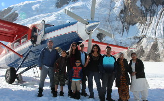 Family Picture at the Mt.McKinley landing