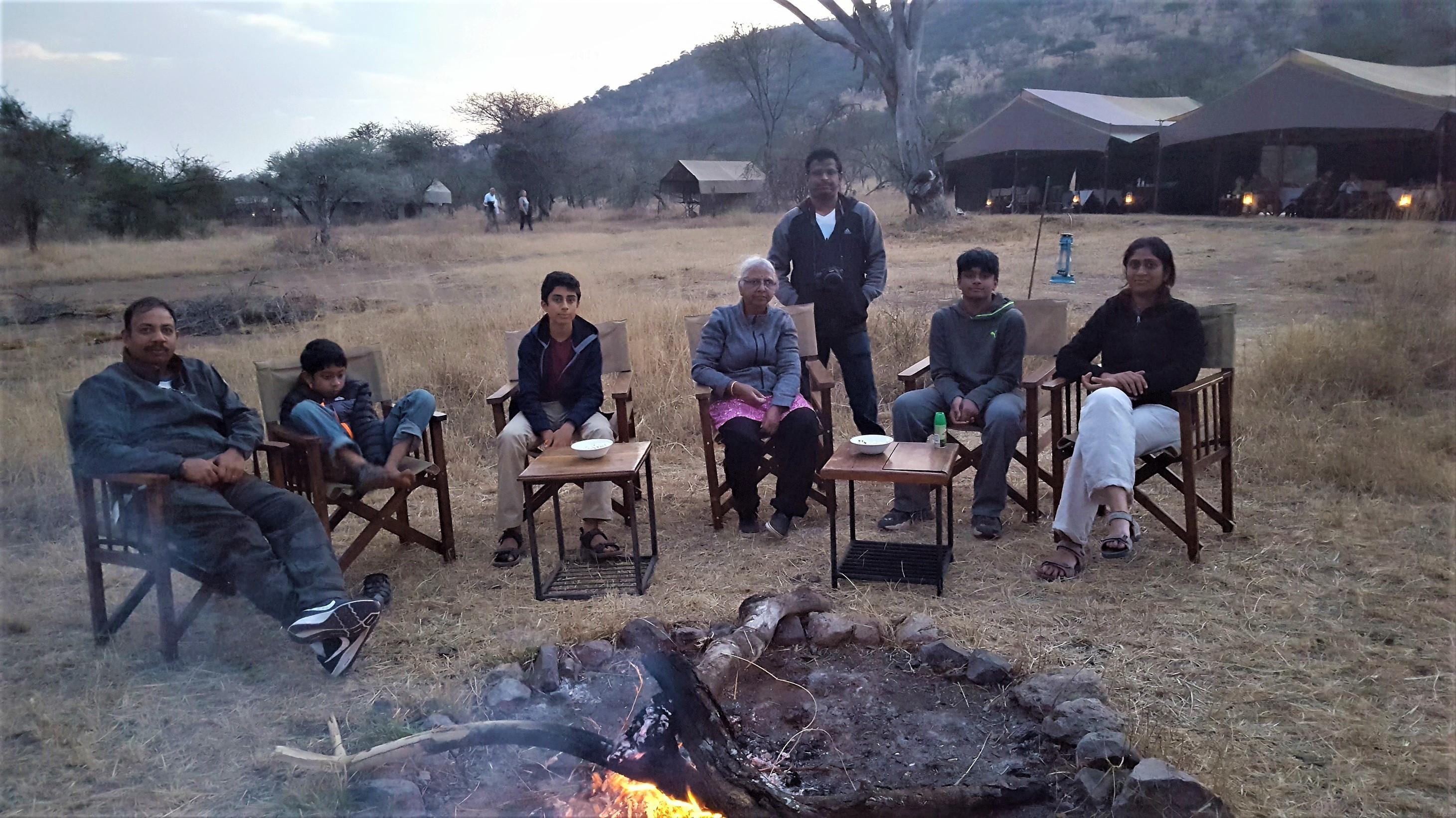 Camp night in Kari Kati tent