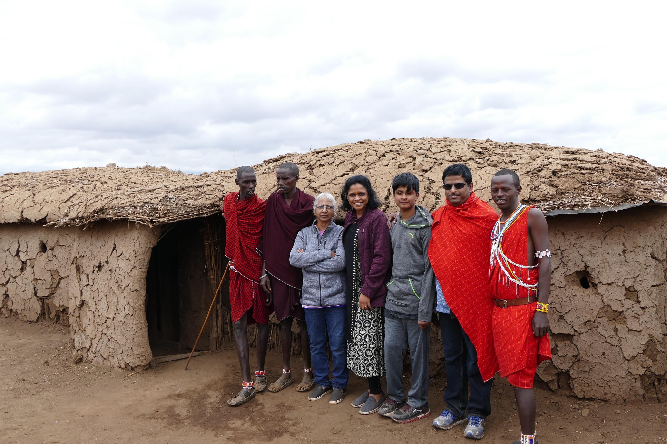Meeting Masai people