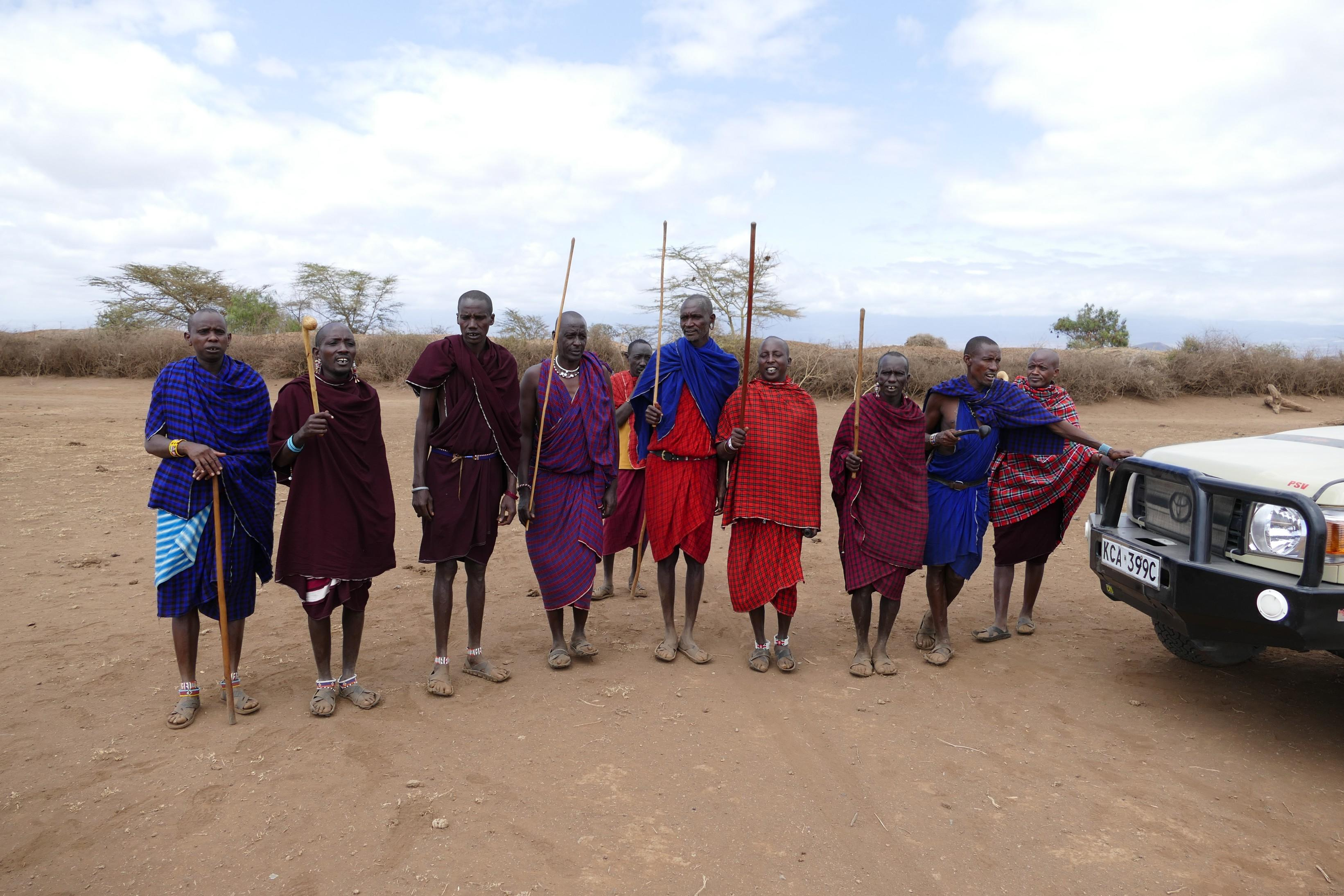 Farewell Song by Maasai Men when we left the village