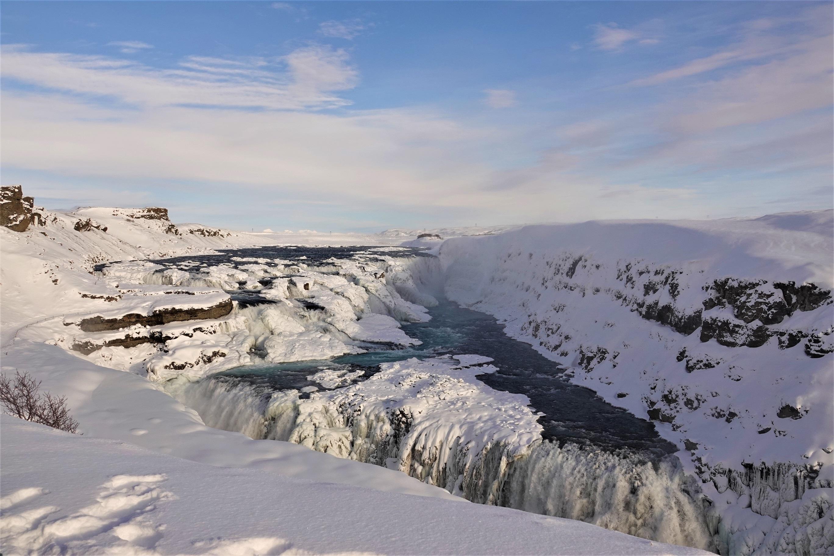 Gulfoss Falls in winter
