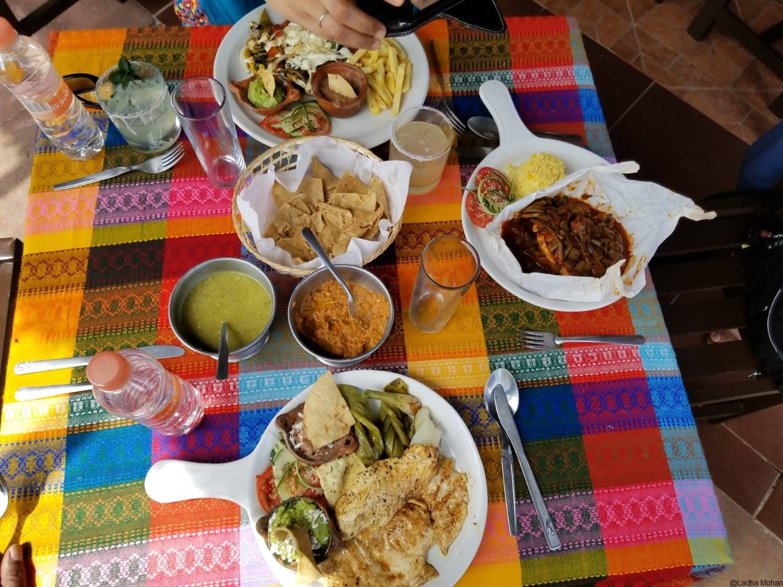 Mexican lunch near Teotihuacan site.