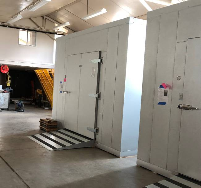 WSU refrigerated storage for fruit handling