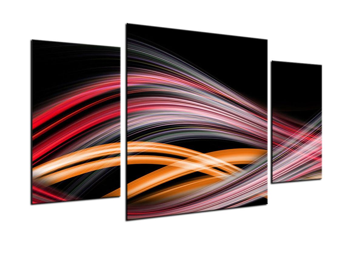 Quadro trittico astratto su vetro temperato 3 pezzi arredo for Quadri per salotto moderno