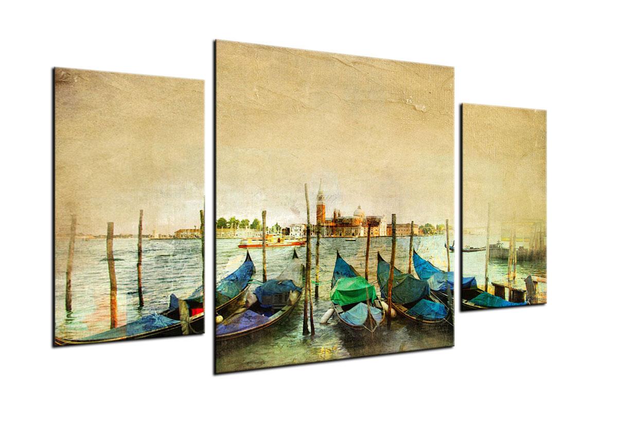 Quadro astratto abstract colorato trittico 3 pezzi arredo for Quadri arredo salotto