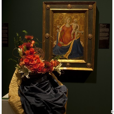 Designer: Clark Reeves & Lisa Reeves, ASID Association: (Lisa)Talents Design Studio, Inc. (Clark):Masterworks Faux Finishes Gallery: 2nd Floor, Kress 2 Artist: Zanobi Strozzi Madonna of Humility, 1446