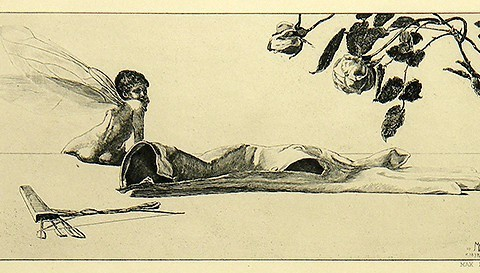 Max Klinger  Cupid (Amor) from Paraphrases on Finding of a Glove, 1898 edition