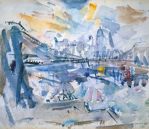 John Marin, New York Landscape, 1920, watercolor, 15 x 18 inches