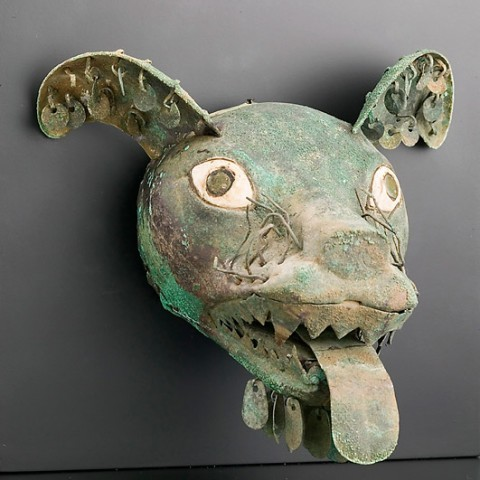 Canine Head Copper Moche Culture, Peru  100 - 300 A.D.